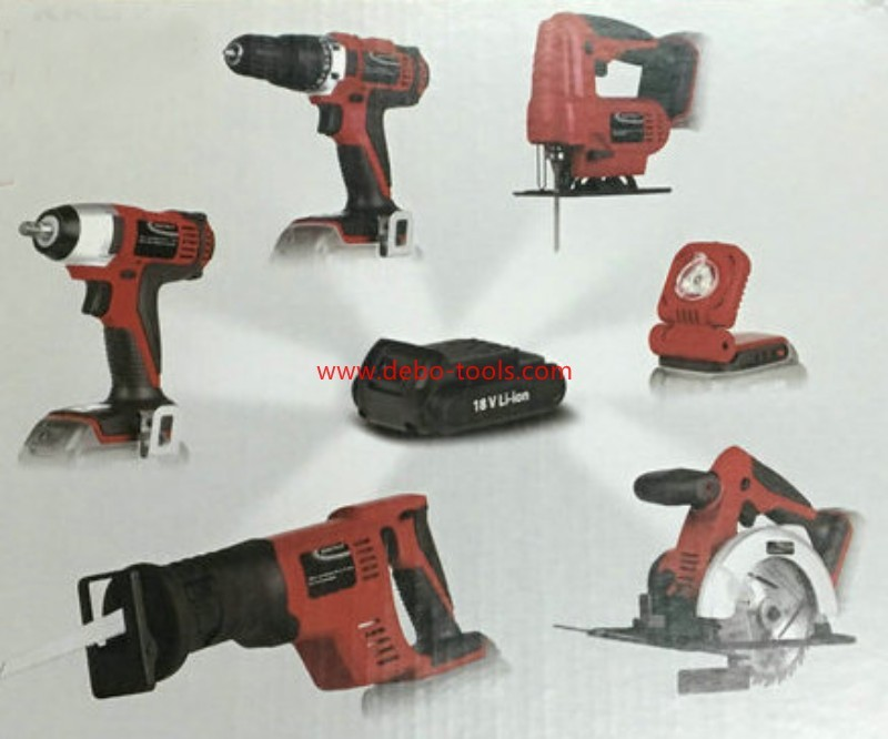 Tool Set 6 in 1 with one battery & charger
